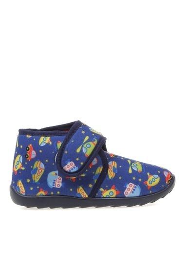 Limon Company Elmot Tekstil Desenli Erkek Çocuk Ev Ayakkabısı Kırmızı